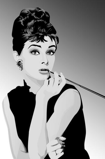 Audrey Hepburn by blazinphoenix